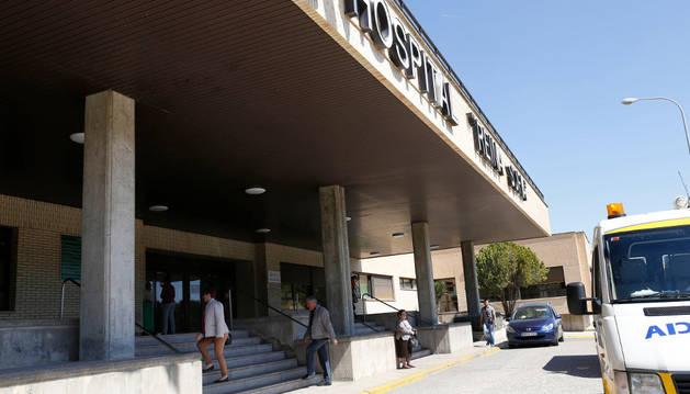 Entrada principal al hospital Reina Sofía de Tudela.