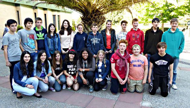 Alumnos del King's College en Tudela.