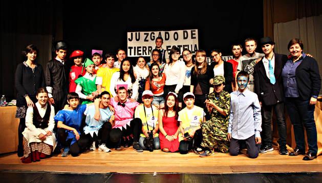 Los alumnos de 2º de ESO del IES Tierra Estella.