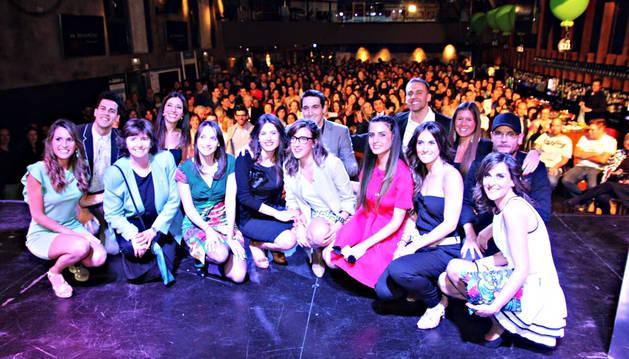 El equipo de MiroMiro en la fiesta de presentación de la plataforma on line, el pasado jueves.