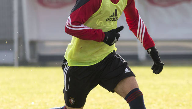 Álex Berenguer, en Tajonar.