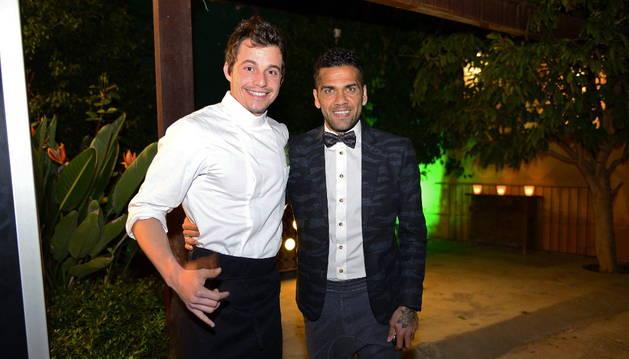 El cocinero Joao Alcantara y el futbolista Dani Alves.