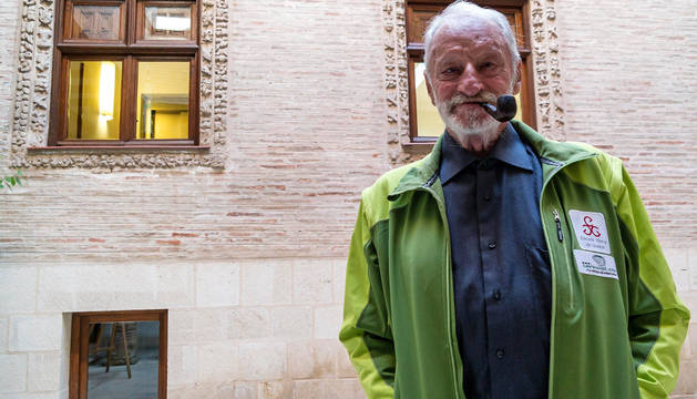 Adolfo Eraso, el viernes en la casa de cultura de Estella.