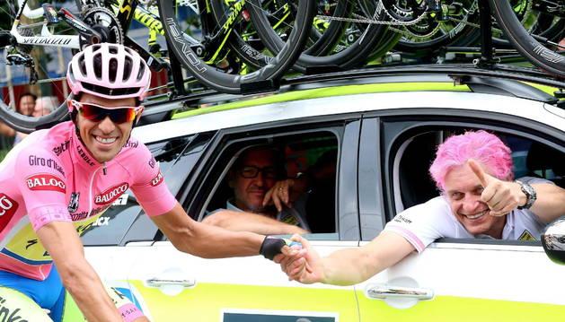 Alberto Contador, junto a Oleg Tinkov.
