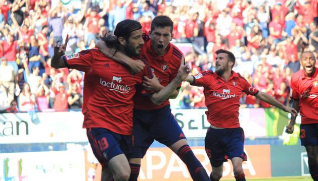 Imágenes del partido disputado este domingo en El Sadar.