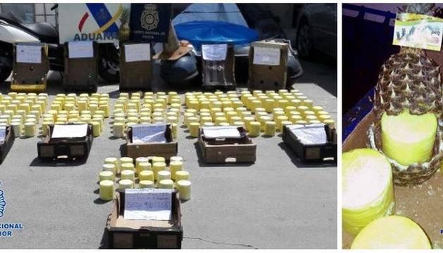 Incautados en Algeciras 200 kilos de cocaína ocultos en piñas