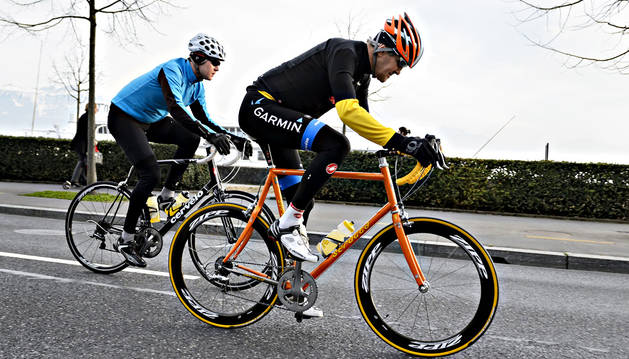Kerry, gran aficionado a la bicicleta.