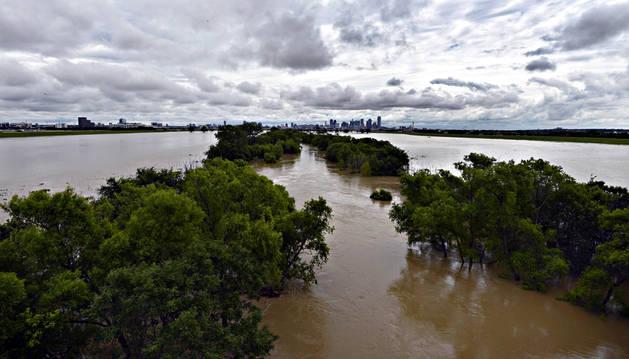 El río Trinidad, en las afueras de Dallas.