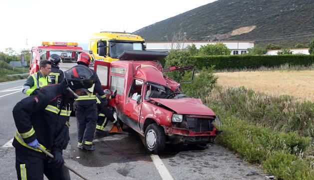 Accidente mortal en Unzué el pasado 25 de mayo.