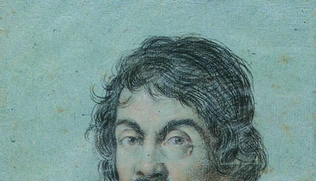 Retrato de Caravaggio firmado por Ottavio Leoni.