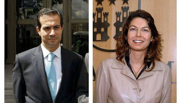 Los consejeros de la Comunidad de Madrid Salvador Victoria y Lucía Figar.