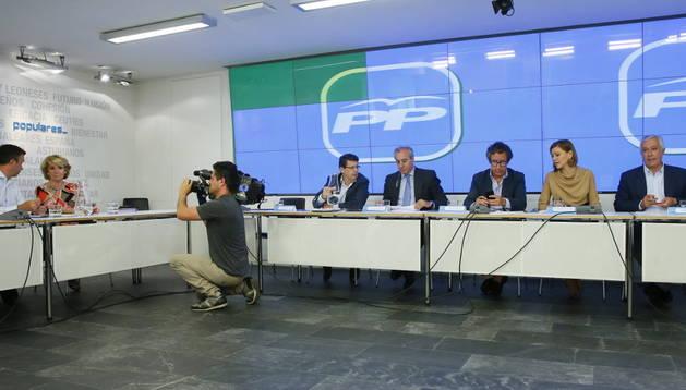 Reunión de los presidentes provinciales del PP.
