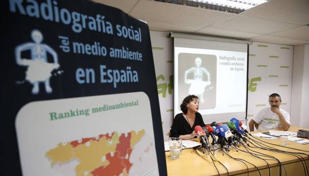 Presentación del informe de Greenpeace.