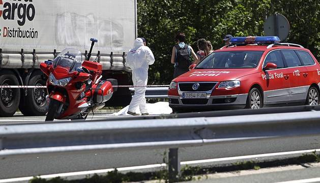 Muere un camionero en una discusión de tráfico en Leitza