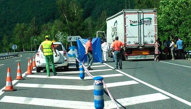 Detenido un ertzaina por la muerte a tiros de un camionero en Leitza