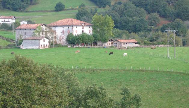 Aspecto parcial del Palacio Arozteguía.