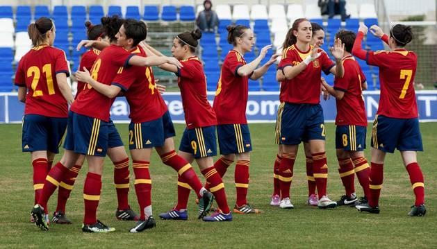 Las jugadoras de la selección española.