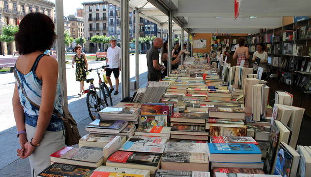 Último día de la Feria del Libro de Pamplona.