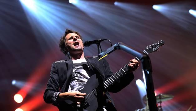 El cantante de Muse, Matthew Bellamy, durante un concierto.