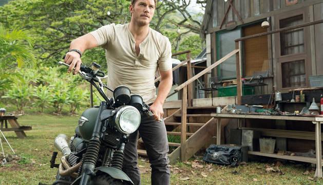 Chris Pratt, en un fotograma de 'Jurassic World'.