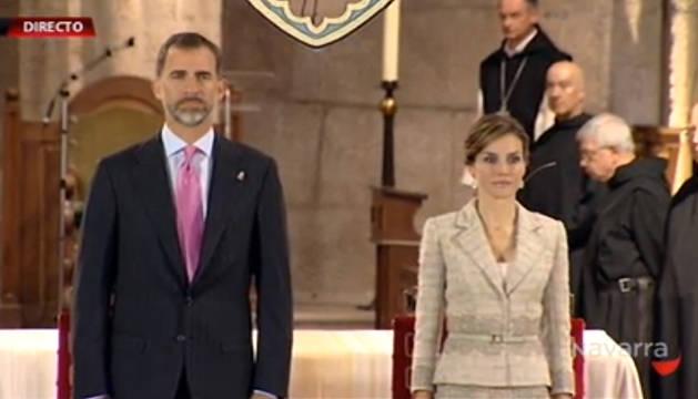 Don Felipe y doña Letizia, presidiendo el acto de entrega del galardón.