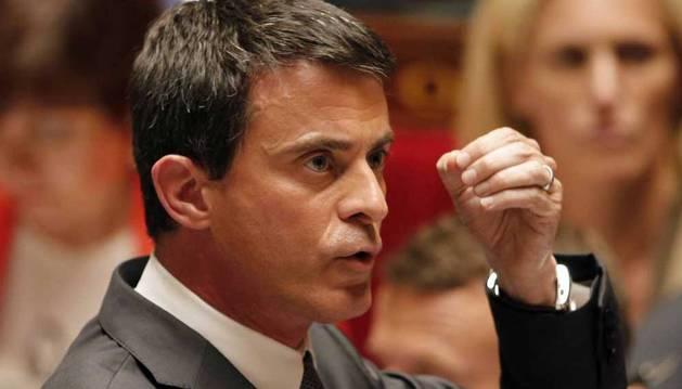 Valls, en la Asamblea Nacional.