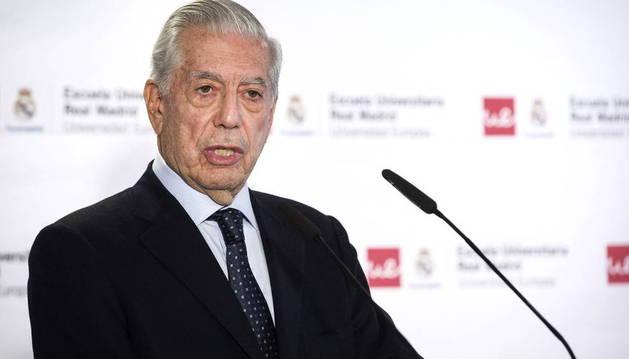 Mario Vargas Llosa, el martes en Madrid.