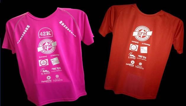 Camisetas oficiales de la II San Fermin Marathon.