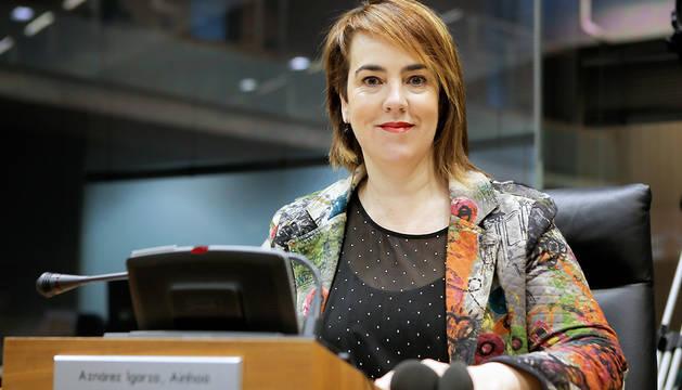 La nueva presidenta del Parlamento de Navarra, la parlamentaria de Podemos Ainhoa Aznárez.