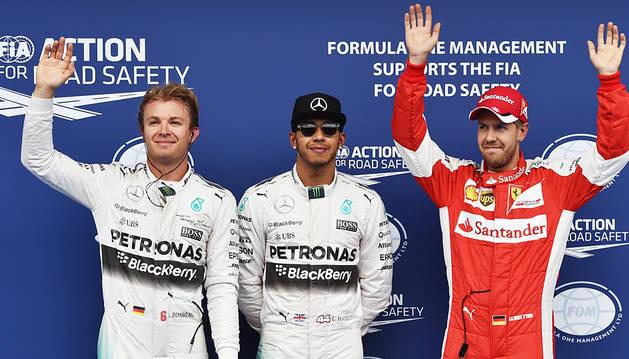 Hamilton logra la 'pole' en Austria e iguala a Vettel