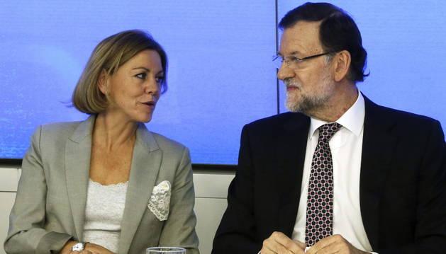 María Dolores de Cospedal y Mariano Rajoy.
