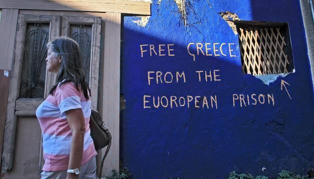 Pintadas contra Europa en Atenas