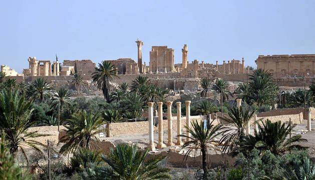 Yihadistas del EI siembran explosivos en la ciudad monumental de Palmira