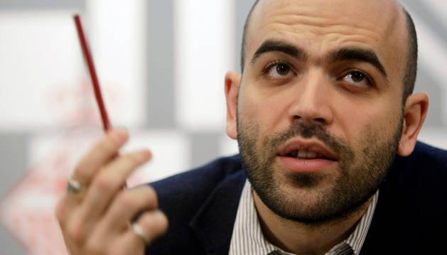 El escritor Roberto Saviano.