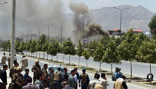Al menos 18 heridos en un ataque talibán al Parlamento afgano