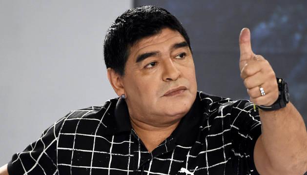 El exfutbolista Diego Armando Maradona.