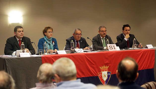La junta directiva, en la asamblea del pasado mes de diciembre.