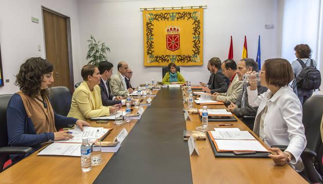 Primera reunión de la Mesa y Junta de Portavoces, el pasado día 19.