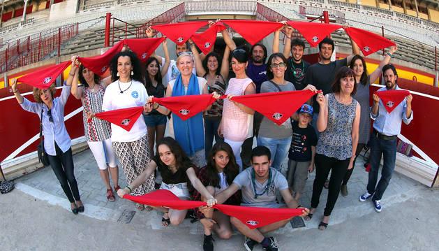 Representantes de algunas de las entidades que colaborarán en la San Fermín Marathon.