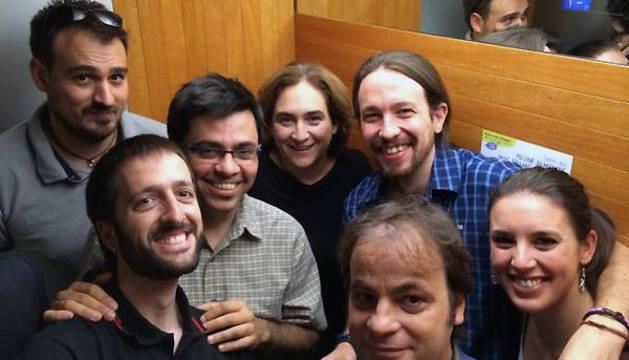 Imagen del momento que Pablo Iglesias ha difundido en Twitter.