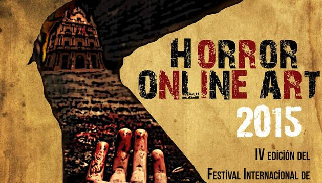 Cartel del festival Horror Online 2015.