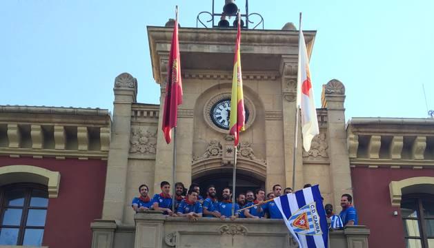 El Izarra, recibido en el Ayuntamiento.