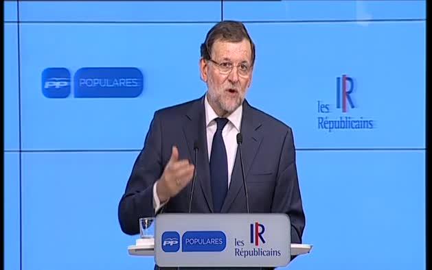 """Rajoy traslada """"tranquilidad"""" porque España no va a acabar como Grecia"""