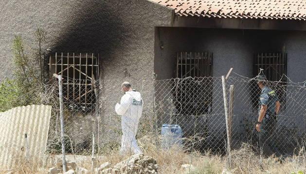 La casa en la que se produjo la explosión.