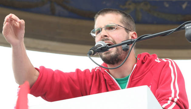 El portavoz del sindicato en Navarra, Igor Arroyo.
