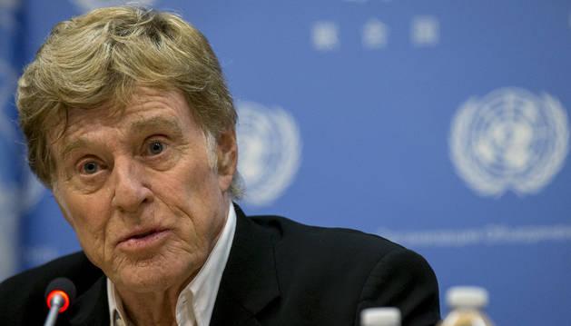 El actor en una de las salas de Naciones Unidas.