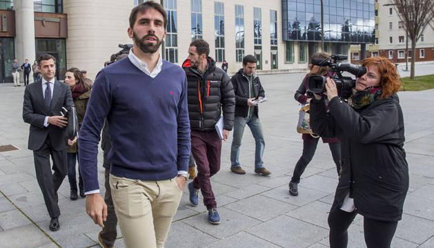 Jordi Figueras, a su salida de la Audencia.