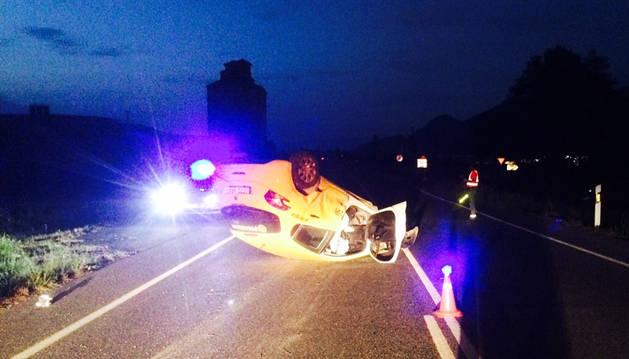 Una herida leve en un accidente ocurrido en Urroz