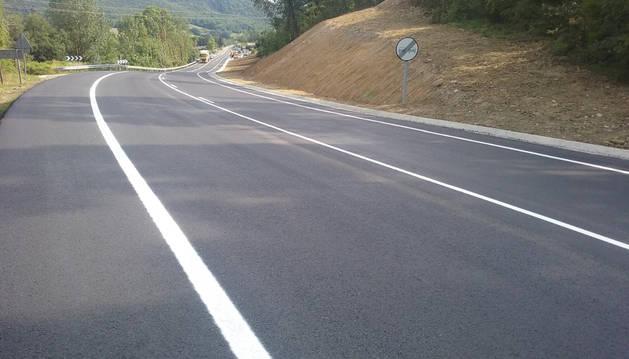 El pk 16+800 de la carretera reformada.