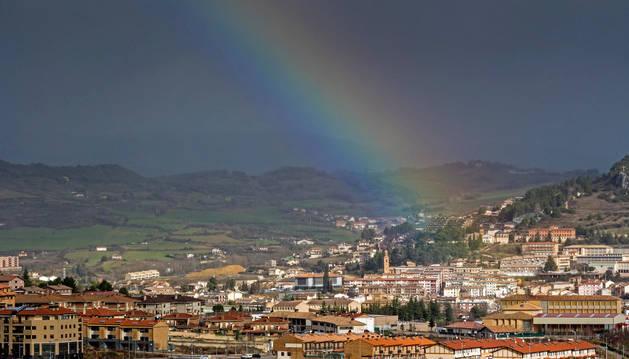 Imagen panorámica de Estella, tomada desde Ayegui.